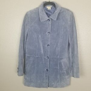 Travelsmith VTG Women's Blue PM 100% Suede Jacket
